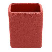 RAK Porcelain NFOPSD01DR Neo Fusion 3.1 oz. Magma Dark Red Stackable Porcelain Ramekin - 12/Case