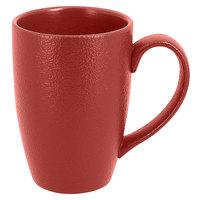 RAK Porcelain NFBAMG45DR Neo Fusion 15.2 oz. Magma Dark Red Porcelain Mug - 12/Case