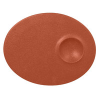 RAK Porcelain NFMROP18BW Neo Fusion 7 1/8 inch Terra Brown Porcelain Oval Plate - 12/Case