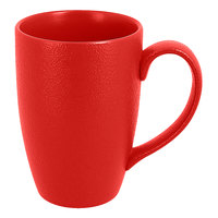 RAK Porcelain NFBAFM30BR Neo Fusion 10.2 oz. Ember Red Porcelain Mug - 6/Case