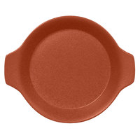 RAK Porcelain NFOPRD16BW Neo Fusion 8 7/16 inch x 7 1/8 inch Terra Brown Porcelain Dish with Handles - 12/Case