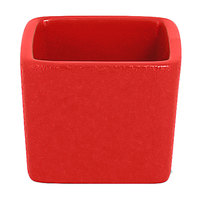 RAK Porcelain NFOPSD02BR Neo Fusion 2.1 oz. Ember Red Stackable Porcelain Ramekin - 12/Case