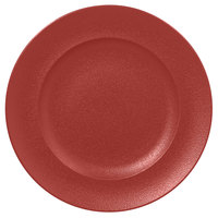 RAK Porcelain NFCLFP33DR Neo Fusion 13 inch Magma Dark Red Porcelain Flat Plate - 6/Case
