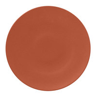 RAK Porcelain NFSPCP29BW Neo Fusion 11 3/8 inch Terra Brown Porcelain Flat Plate - 6/Case