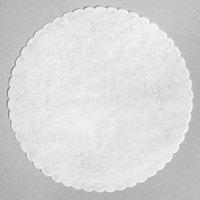 8 inch Floral Linen Paper Doilies - 500/Case