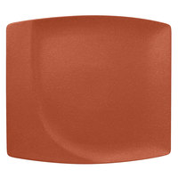 RAK Porcelain NFMZSP32BW Neo Fusion 12 9/16 inch Terra Brown Porcelain Square Flat Plate - 6/Case
