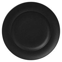 RAK Porcelain NFCLFP33BK Neo Fusion 13 inch Volcano Black Porcelain Flat Plate - 6/Case