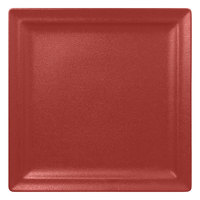 RAK Porcelain NFCLSP30DR Neo Fusion 11 13/16 inch Magma Dark Red Porcelain Square Flat Plate - 6/Case