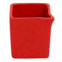 RAK Porcelain NFOPSD03BR Neo Fusion 2.7 oz. Ember Red Porcelain Creamer - 12/Case