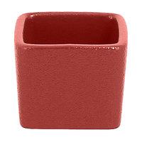 RAK Porcelain NFOPSD02DR Neo Fusion 2.1 oz. Magma Dark Red Stackable Porcelain Ramekin - 12/Case