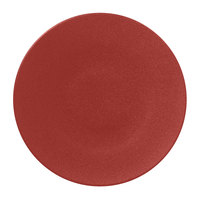 RAK Porcelain NFSPCP29DR Neo Fusion 11 3/8 inch Magma Dark Red Porcelain Flat Plate - 6/Case