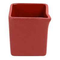 RAK Porcelain NFOPSD03DR Neo Fusion 2.7 oz. Magma Dark Red Porcelain Creamer - 12/Case