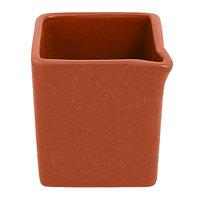 RAK Porcelain NFOPSD03BW Neo Fusion 2.7 oz. Terra Brown Porcelain Creamer - 12/Case