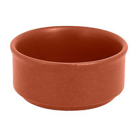 RAK Porcelain NFBABR02BW Neo Fusion 3.4 oz. Terra Brown Stackable Porcelain Ramekin - 12/Case