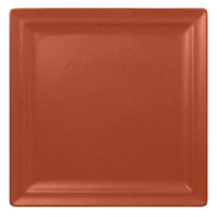 RAK Porcelain NFCLSP30BW Neo Fusion 11 13/16 inch Terra Brown Porcelain Square Flat Plate - 6/Case