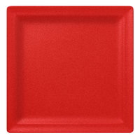 RAK Porcelain NFCLSP30BR Neo Fusion 11 13/16 inch Ember Red Porcelain Square Flat Plate - 6/Case