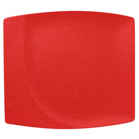 RAK Porcelain NFMZSP32BR Neo Fusion 12 9/16 inch Ember Red Porcelain Square Flat Plate - 6/Case
