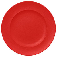 RAK Porcelain NFCLFP33BR Neo Fusion 13 inch Ember Red Porcelain Flat Plate - 6/Case
