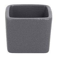 RAK Porcelain NFOPSD02GY Neo Fusion 2.1 oz. Stone Gray Stackable Porcelain Ramekin - 12/Case