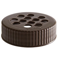 Vollrath 4908-01 Traex® Dripcut® Brown Shaker Lid for Extra-Coarse Ground Product