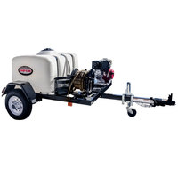 Simpson 95002 Trailer Pressure Washer with Honda Engine and 150 Gallon Water Tank - 4200 PSI; 4.0 GPM