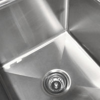 advance tabco fc 3 1515 three compartment stainless steel commercial sink 50 inch - Three Compartment Kitchen Sink