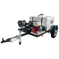 Simpson 95003 Trailer Pressure Washer with Honda Engine, 150 Gallon Water Tank, and 12V Battery Included - 4200 PSI; 4.0 GPM