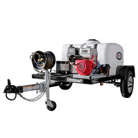 Simpson 95003 Trailer Pressure Washer with Honda Engine and 150 Gallon Water Tank - 4200 PSI; 4.0 GPM