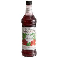 Monin 1 Liter Premium Hibiscus Flavoring Syrup
