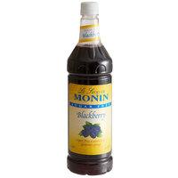 Monin 1 Liter Sugar Free Blackberry Flavoring Syrup