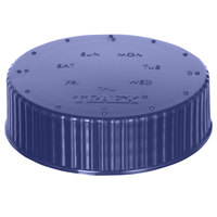 Vollrath 4902-54 Traex® Dripcut® Purple Wide Mouth Storage Shaker / Dredge Lid with Date Indicator