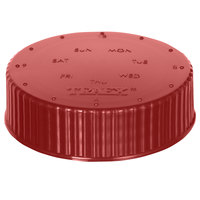 Vollrath 4902-02 Traex® Dripcut® Red Wide Mouth Storage Shaker / Dredge Lid with Date Indicator