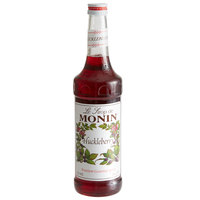 Monin 750 mL Premium Huckleberry Flavoring Syrup