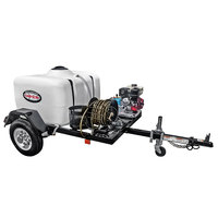 Simpson 95001 Trailer Pressure Washer with Honda Engine and 150 Gallon Water Tank - 3800 PSI; 3.5 GPM