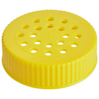 Vollrath 4907-08 Traex® Dripcut® Yellow Shaker Lid for Coarse Ground Product