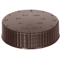 Vollrath 4902-01 Traex® Dripcut® Brown Wide Mouth Storage Shaker / Dredge Lid with Date Indicator