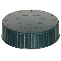 Vollrath 4902-191 Traex® Dripcut® Green Wide Mouth Storage Shaker / Dredge Lid with Date Indicator
