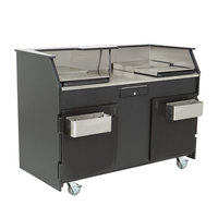 IRP 771310 Precision Series Stainless Steel Beverage Service Cart with 16 Gallon Tank and Ice Bin Inserts - 61 1/8 inch x 34 7/8 inch x 45 1/8 inch