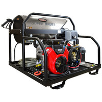 Simpson 65110 Super Brute Hot Water Pressure Washer with Vanguard Engine and 50' Hose - 3500 PSI; 5.5 GPM
