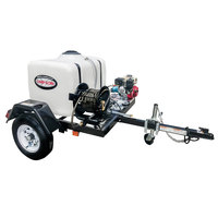 Simpson 95000 Trailer Pressure Washer with Honda Engine and 100 Gallon Water Tank - 3200 PSI; 2.8 GPM