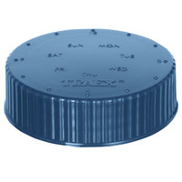 Vollrath 4902-44 Traex® Dripcut® Blue Wide Mouth Storage Shaker / Dredge Lid with Date Indicator