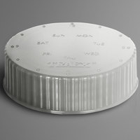 Vollrath 4902-13 Traex® Dripcut® Clear Wide Mouth Storage Shaker / Dredge Lid with Date Indicator