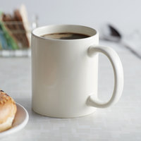 Choice 12 oz. Ivory C-Handle Stoneware Mug - 36/Case