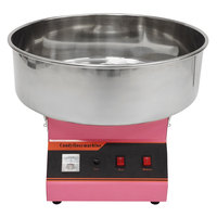 Benchmark USA 81011A Zephyr Cotton Candy Machine with 21 inch Stainless Steel Bowl - 120V, 900W