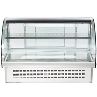 Vollrath 40843 48 inch Curved Glass Drop In Refrigerated Countertop Display Cabinet