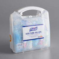 Purell® 3841-08-CLMS Body Fluid Spill Kit with Clamshell Case   - 2/Case