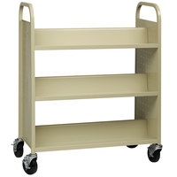 Hirsh Industries 21785 38 inch x 18 inch x 46 1/4 inch Putty 6-Shelf Book Cart