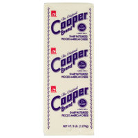 Cooper Cheese CV Sharp White American Cheese 5 lb. Solid Block   - 6/Case