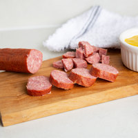 Groff's Meats Smoked Sausage Rope 5 lb. Piece - 4/Case