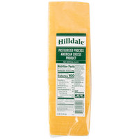 Hilldale 5 lb. Pack 160-Count Pre-Sliced Yellow American Cheese - 6/Case
